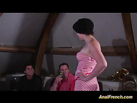 French dame has backdoor fucked