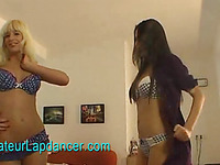 Extremely sexy czech chick doing double lapdance