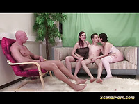 Arousing foursome with Scandi sweethearts