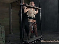 Lovely slaves are made to submit to taskmaster's demands