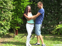 Worthwhile playful brown-haired perfection Vivien B fucked hard