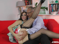 Enjoyable fuck for a stunning dark brown Paige with large pantoons