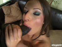 Lovable woman Debbie White gets licked and teased