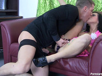 Packing monsters get jerked by alluring Angelica Kitten