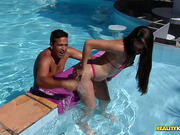 Voluptous darksome-haired chick Izabelly getting stuffed