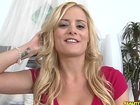 Palpitating fang for a horny blond darling Chloe Conrad