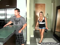 Curvaceous maiden Rachel Love likes the smack of buddy's pole