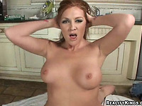 Foxy carroty girlfriend Morgan fucked her fucker