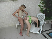 Driely shemale bonks gal action