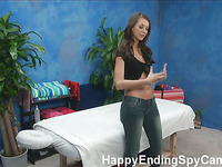 Our hidden spy cameras caught Katie the massage therapist giving more than a massage!