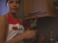 Attractive and cute Ivana Fukalot is having bang in the kitchen