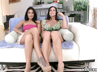 Brave brunette Kendra Lust is here to have threesome fuck