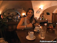 Indecent fingering at the table