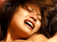 Asian whore with really hairy pussy hole is getting abused really hard
