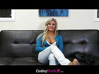 Cameron with a beautiful smile gonna ride the cock on camera