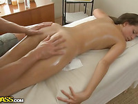 Hawt college playgirl needs a relaxing intimate massage and a good fuck
