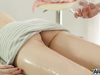 Massage ending up with good quality porn
